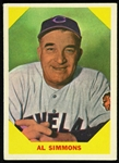 1960 Al Simmons Cleveland Indians #32 Fleer Baseball Greats Card