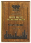 "2001 Terry Cummings DePaul University Signed 9"" x 12"" Alumni Player of the Game Award Plaque (JSA)"