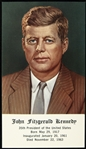 "1963 John F. Kennedy 35th President of the United States 2.25"" x 4"" Memorial Card"