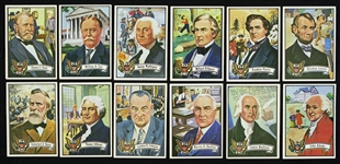 1972 Topps Us Presidents Trading Cards (lot of 12)