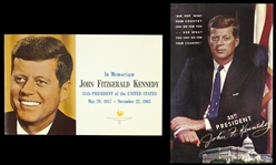1963-1964 circa John F. Kennedy Mint Postcards (2)