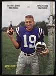 1965 Columbus Junior High School vs. Arnold Junior High School Football Program w/ Johnny Unitas Royal Crown Cola Cover