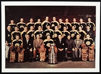 "1969-1970 Boston Bruins Stanley Cup Champions 5"" x 7"" Full Color Glossy Paper Team Photo"