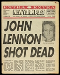 1980 (December 9) John Lennon The Beatles Shot Dead New York Post Newspaper