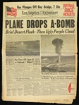1951 (October 29) Nevada Atomic Bomb Testing Los Angeles Examiner Newspaper