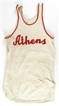 1940s-60s Game Worn Basketball Apparel - Lot of 5 w/ Jerseys & Warm Up