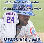 2016 (September 24) Dexter Fowler Chicago Cubs Game Worn Home Uniform (MEARS A10/MLB Hologram) World Series Season