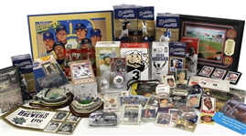 1970s-2000s Milwaukee Brewers Memorabilia Collection - Lot of 93 w/ Signed Items (Spahn, Yount, Molitor, Uecker & More), Framed Pieces, Bobbleheads, Publications/Tickets & More (JSA)