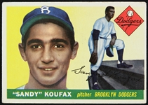 1955 Sandy Koufax Brooklyn Dodgers Topps Rookie Trading Card