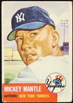 1953 Mickey Mantle New York Yankees Topps Trading Card