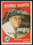 1959 Mickey Mantle New York Yankees Topps Trading Card