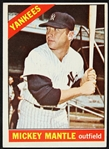 1966 Mickey Mantle New York Yankees Topps Trading Card