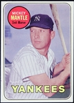 1969 Mickey Mantle New York Yankees Topps Trading Card