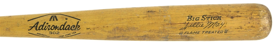1968-70 Willie Mays San Francisco Giants Adirondack Professional Model Team Index Bat (MEARS LOA)
