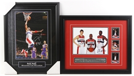 1990s-2010s Milwaukee Bucks Washington Wizards Memorabilia Collection - Lot of 10 w/ Posters & Signed Framed Displays (JSA)