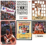 1970s-2000s Basketball Baseball Hockey Poster Collection - Lot of 6 w/ Michael Jordan, Roberto Clemente, Chicago Cougars & More