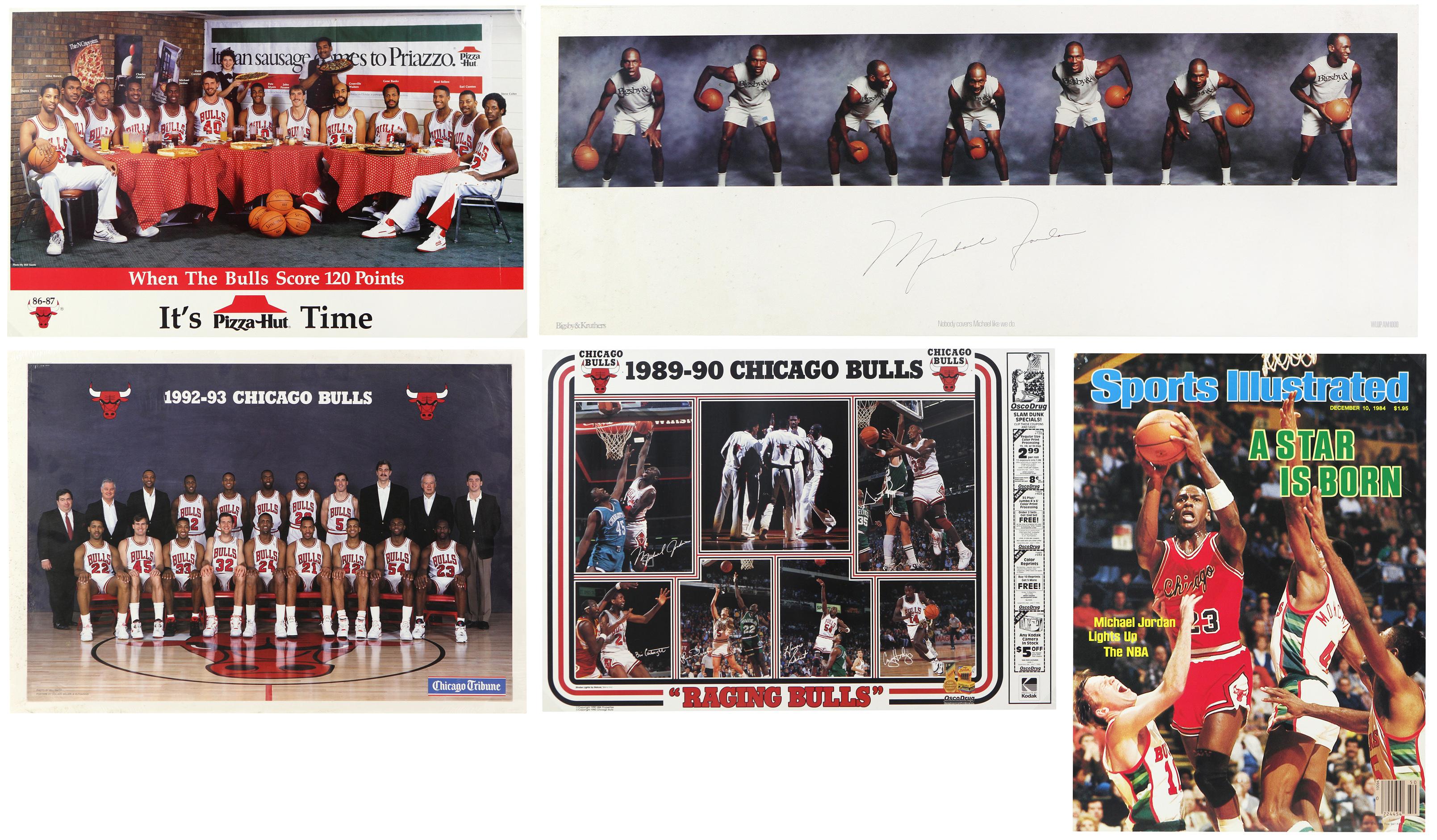 a8cee08fb05 Lot Detail - 1980 s-90 s Michael Jordan Chicago Bulls Poster ...