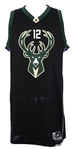 2016 (December 20) Jabari Parker Milwaukee Bucks Game Worn Alternate Jersey (MEARS A10/Fanatics Authentic)