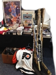 1970s-1990s Memorabilia Assortment of Hockey, Football, Baseball, Basketball Lot (150+ Items)