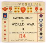 1946 Factual Chart of the World War 2 Asiatic Pacific Operations (14x15)