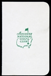 1970s Augusta National Golf Club Blank Scorecard w/ Hole Names on Reverse