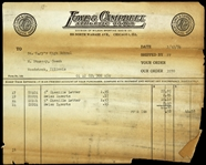 1954 St. Marys High School Woodstock Illinois Lowe & Campbell Athletic Goods Invoice