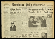 1958 (December 29) Baltimore Colts Win NFL Champoinship in Sudden Death Leominster Daily Enterprise Newspaper