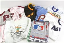 1980s Retail Baseball Jersey Collection - Lot of 13 w/ Philadelphia Phillies, San Diego Padres, Chicago White Sox & More