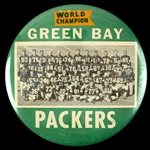 "1961 Green Bay Packers World Champion Variant Lombardi First Title Team 6"" Oversized Team Photo Button"