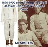 1890-1990 circa Football Lace Up Sleeved Union Suit