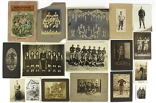 1890s-1920s Football Basketball Original Photography Collection - Lot of 17