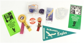 1960s-80s Football Memorabilia Collection - Lot of 12