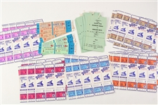 1972-83 Chicago White Sox Ghost Tickets & Chicago Blitz Parking Pass Collection - Lot of 61