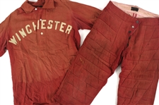 1910s Winchester Game Worn Wright & Ditson Flannel Baseball Uniform w/ Quilted Pants (MEARS LOA)