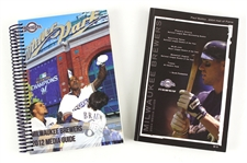 2004-12 Milwaukee Brewers Media Guides - Lot of 2