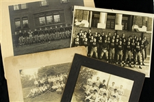 1890s-1930s Baseball Football Original Photography Collection - Lot of 4
