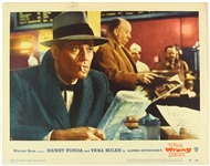 "1957 The Wrong Man Henry Fonda Alfred Hitchcock 11"" x 14"" Lobby Card"