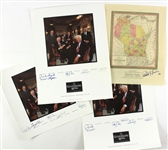 1970s-90s Wisconsin Governors Signed Map/Photo Collection - Lot of 4 w/ Patrick Lucey, Gaylord Nelson, Tommy Thomspon & More (JSA)