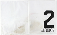2010 Alcindor Race Horse Race Worn #2 Saddle Cloth (MEARS LOA)