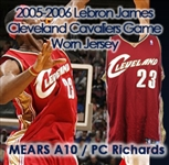 "2005-06 LeBron James Cleveland Cavalier Game Worn Road Jersey (MEARS A10) ""Provenance from PC Richard & Sons Electronic Company"""