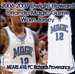 "2006-07 Dwight Howard Orlando Magic Game Worn Home Jersey (MEARS A10) ""Provenance from PC Richjard & Sons Electronic Company"""