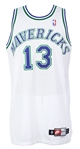 2001 Playoffs Steve Nash Dallas Mavericks Game Worn Home Jersey (MEARS A10 / Chad Lewis Equipment Manager Letter)