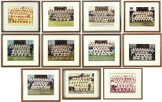 1980s Framed Brewers Team Photos, Plaques, Photos (Lot of 22) (JSA)
