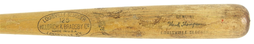 1950-56 Hank Thompson New York Giants H&B Louisville Slugger Professional Model Game Used Bat (MEARS LOA)