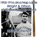 1905-10 Napoleon Lajoie Cleveland Naps Wright & Ditson Makers No. 5 Professional Model Bat (MEARS Authentic / PSA/DNA)