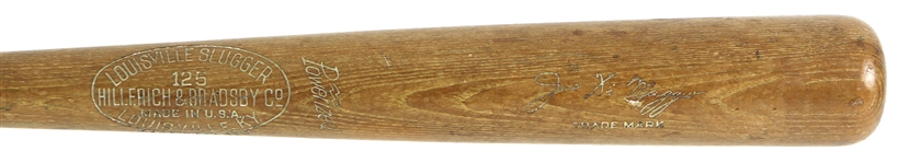 1946 Joe DiMaggio New York Yankees H&B Louisville Slugger Professional Model Team Index Bat (MEARS A8 & PSA/DNA)