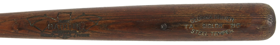 1920s George Sisler Browns/Braves Batrite Professional Model Bat (MEARS A5 & PSA/DNA)