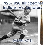 "1925-28 circa Tris Speaker Zinn Beck Professional Model Bat (MEARS A7.5) ""With Taped Handle"""