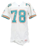 1991 Richmond Webb Miami Dolphins Signed Game Worn Road Jersey (MEARS LOA/*JSA*)
