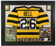 "2017 LeVeon Bell Pittsburgh Steelers 36"" x 44"" Framed Display w/ Signed Jersey (*JSA*)"
